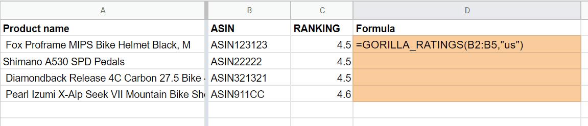 gorilla ratings