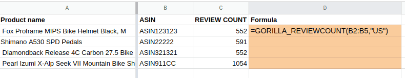 review count