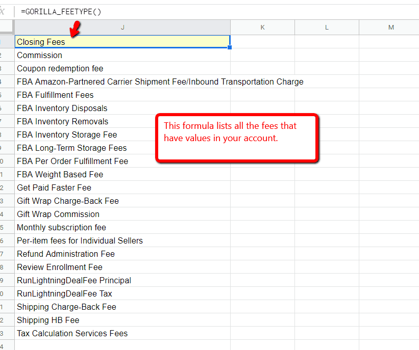 How to import Amazon seller fees into Google Sheets 2