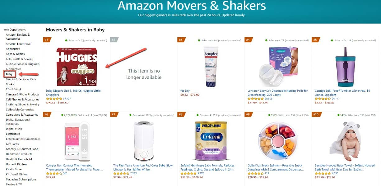How sellers can benefit with Amazon movers and shakers 1