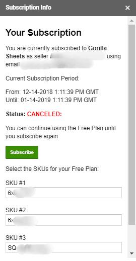 subscription id