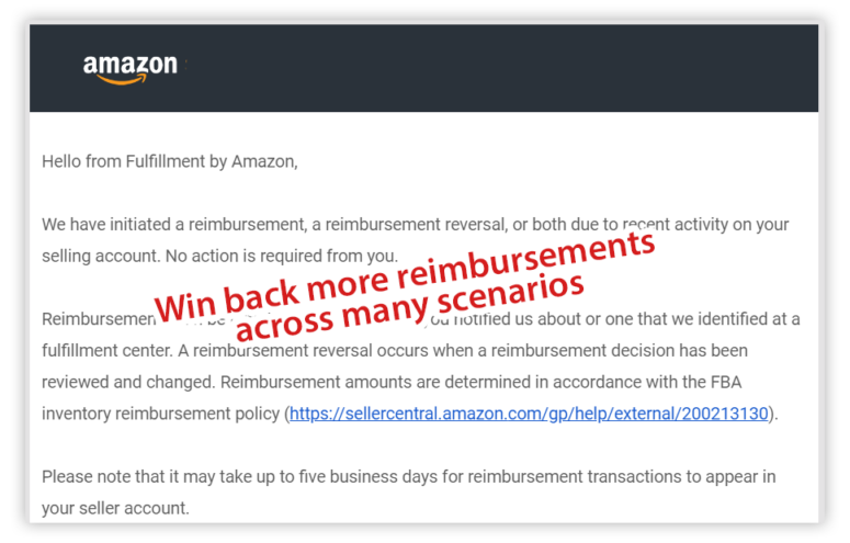 amazon reimbursement email