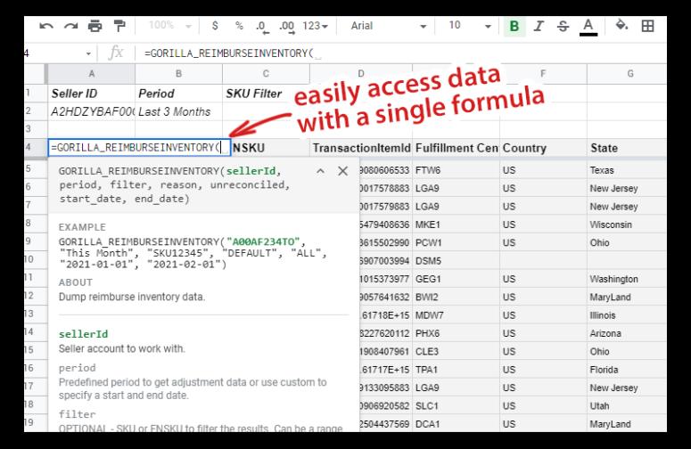 Amazon Reimbursement Data Package 3