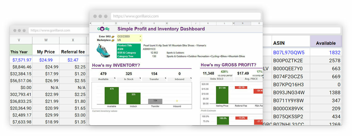 Profit and inventory dashboard 1