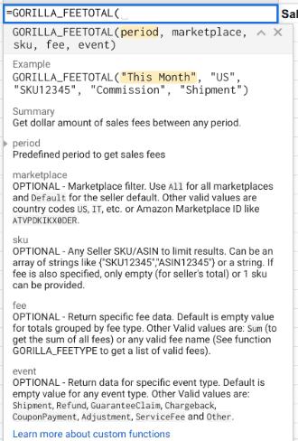 Amazon seller fees