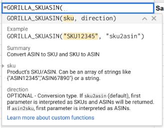 How to get Amazon ASIN to SKU or FNSKU 1