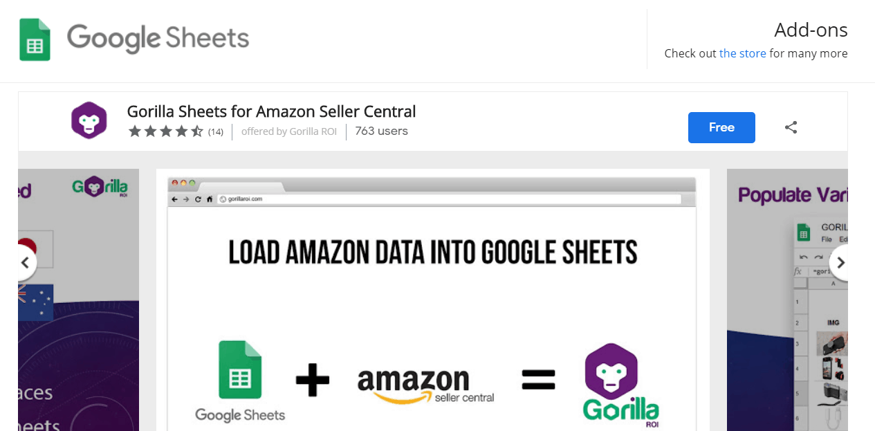 search for Gorilla ROI in any Google Sheet srcset=