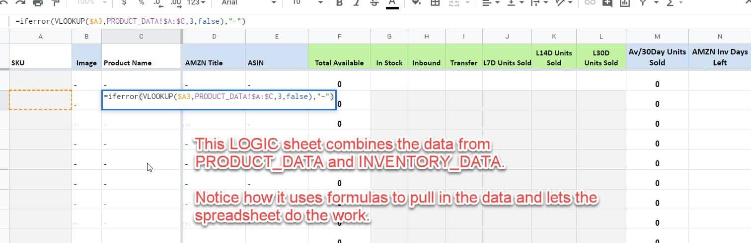 inventory stock tracking formulas
