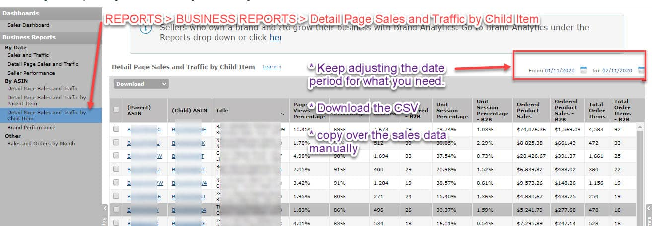 How to create an Amazon sales tracker with Google Sheets 7