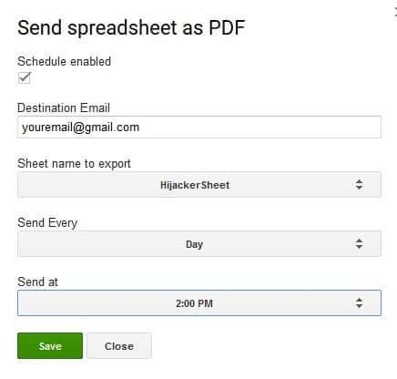 send spreadsheet as PDF