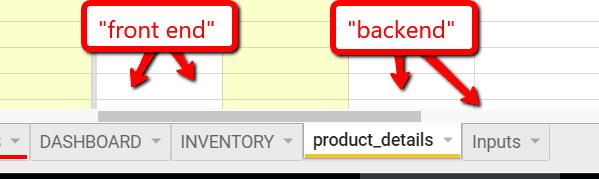 spreadsheet frontend backend 1